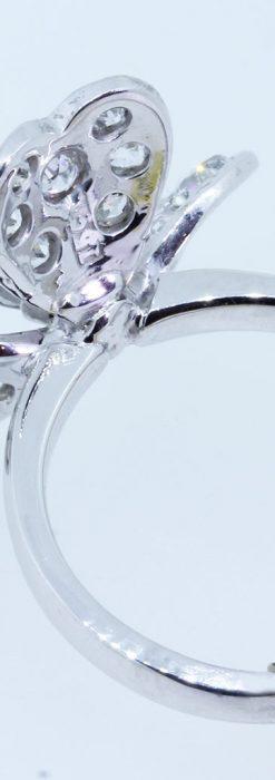 1910年頃の15金アンティークリング・ダイヤモンドの美しい花-A0276-9