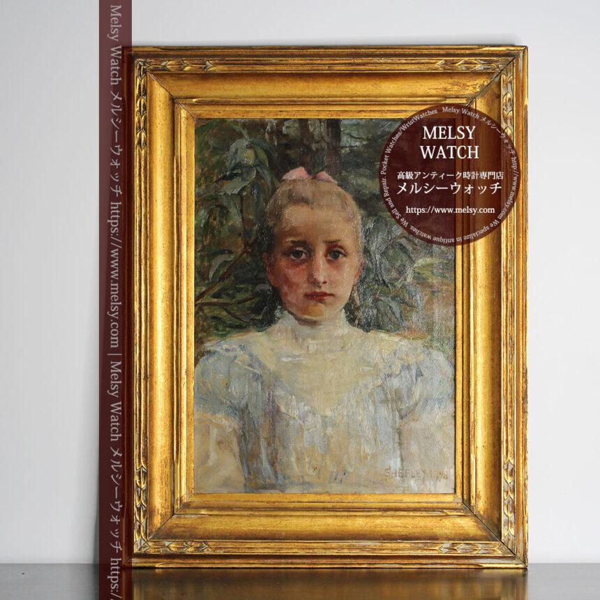 大森安仁子 Annie Barrows Shepleyの描いた姪 1898年作 -大河ドラマいだてん大森兵蔵の妻-A0280-1