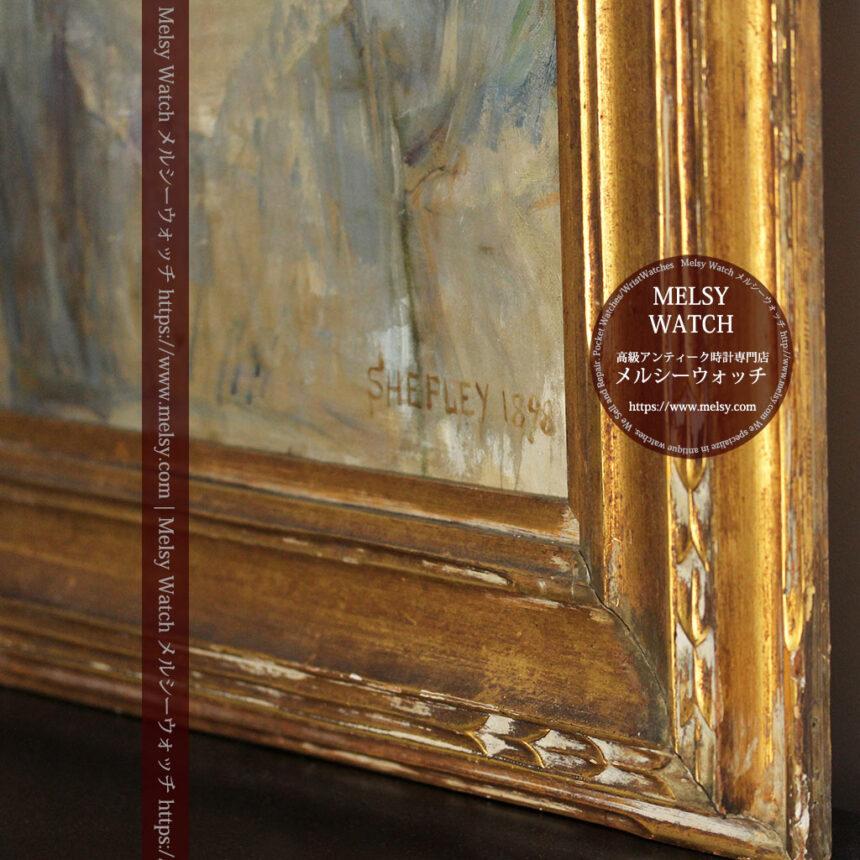 大森安仁子 Annie Barrows Shepleyの描いた姪 1898年作 -大河ドラマいだてん大森兵蔵の妻-A0280-11