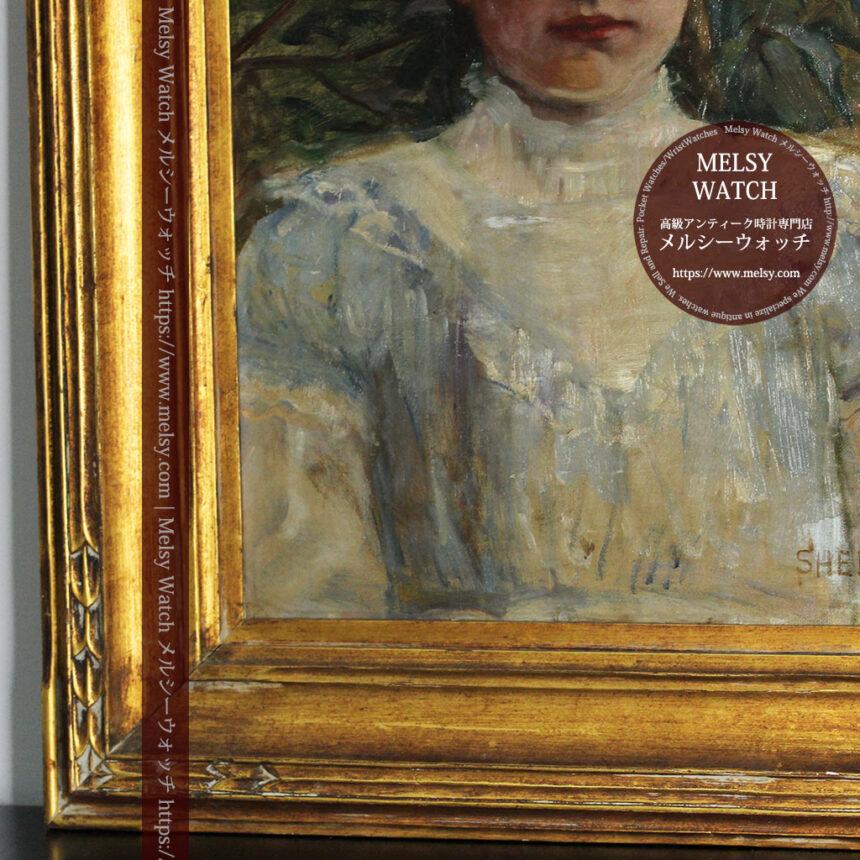 大森安仁子 Annie Barrows Shepleyの描いた姪 1898年作 -大河ドラマいだてん大森兵蔵の妻-A0280-13