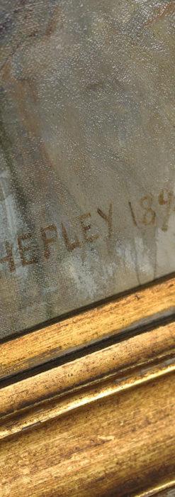 大森安仁子 Annie Barrows Shepleyの描いた姪 1898年作 -大河ドラマいだてん大森兵蔵の妻-A0280-14
