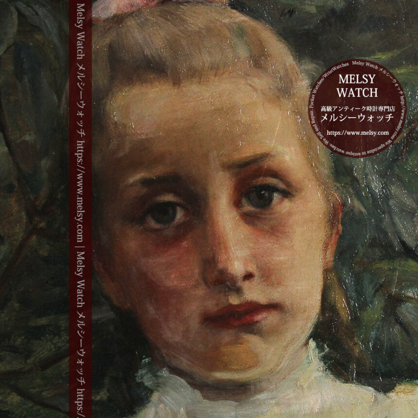 大森安仁子 Annie Barrows Shepleyの描いた姪 1898年作 -大河ドラマいだてん大森兵蔵の妻-A0280-15