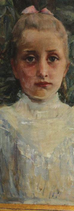 大森安仁子 Annie Barrows Shepleyの描いた姪 1898年作 -大河ドラマいだてん大森兵蔵の妻-A0280-2