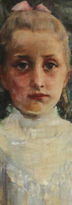 大森安仁子 Annie Barrows Shepleyの描いた姪 1898年作 -大河ドラマいだてん大森兵蔵の妻-A0280-3