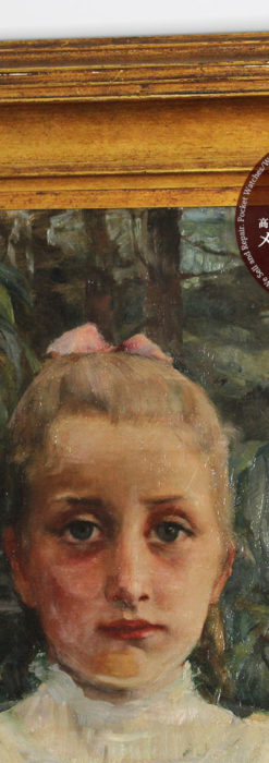 大森安仁子 Annie Barrows Shepleyの描いた姪 1898年作 -大河ドラマいだてん大森兵蔵の妻-A0280-4