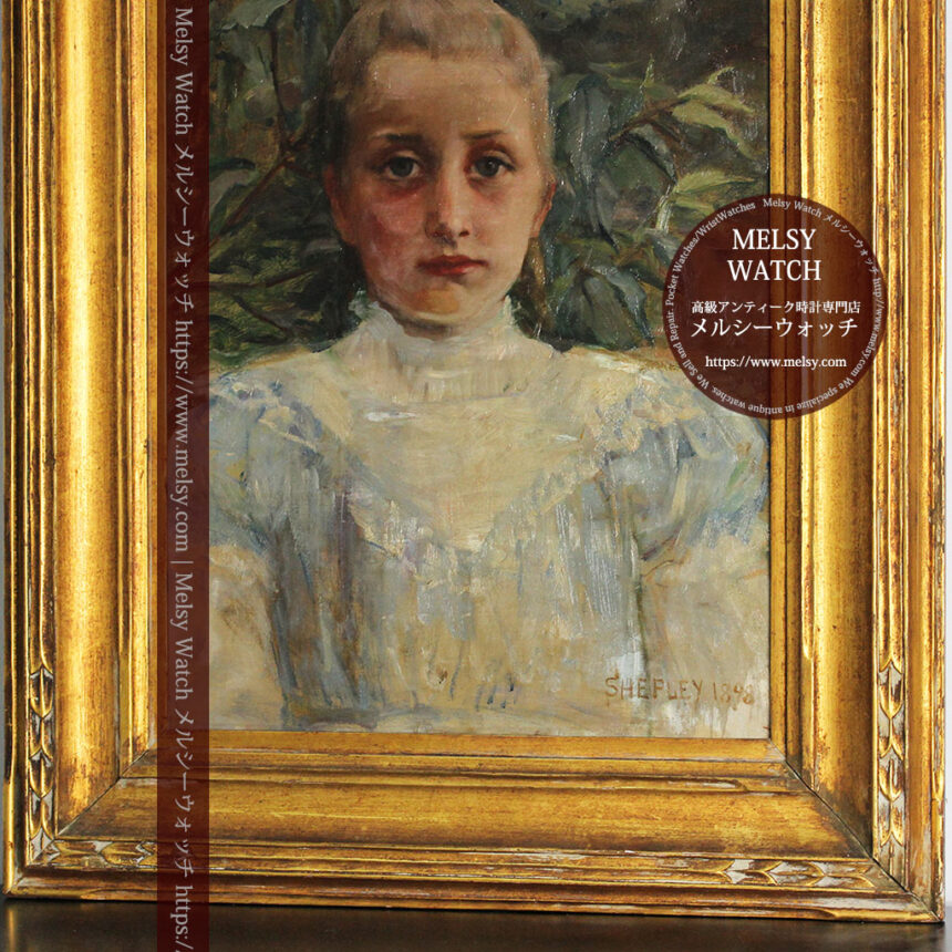 大森安仁子 Annie Barrows Shepleyの描いた姪 1898年作 -大河ドラマいだてん大森兵蔵の妻-A0280-5