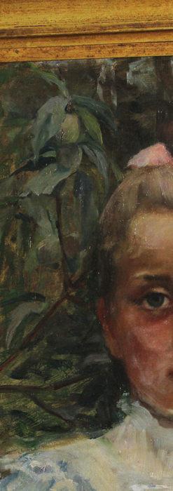 大森安仁子 Annie Barrows Shepleyの描いた姪 1898年作 -大河ドラマいだてん大森兵蔵の妻-A0280-6