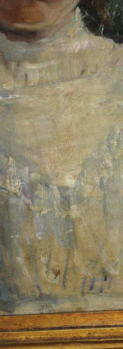 大森安仁子 Annie Barrows Shepleyの描いた姪 1898年作 -大河ドラマいだてん大森兵蔵の妻-A0280-7
