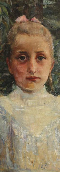 大森安仁子 Annie Barrows Shepleyの描いた姪 1898年作 -大河ドラマいだてん大森兵蔵の妻-A0280-8