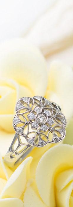 ダイヤモンドとプラチナリング -よみがえる伝承の職人技と造形美-A0283-1