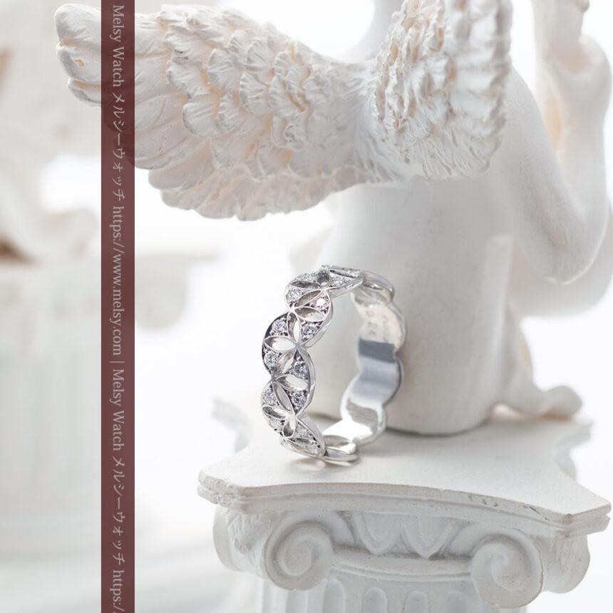 ダイヤモンドとプラチナリング -よみがえる伝承の職人技と造形美-A0286-4