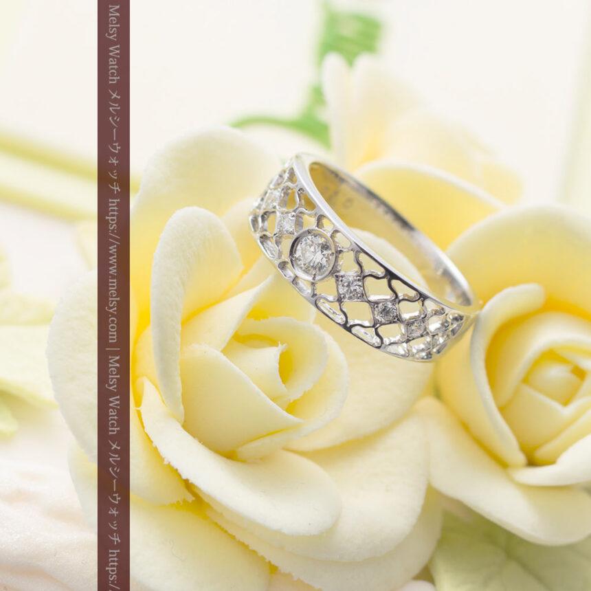 ダイヤモンドとプラチナリング -よみがえる伝承の職人技と造形美-A0287-1