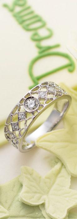 ダイヤモンドとプラチナリング -よみがえる伝承の職人技と造形美-A0287-2