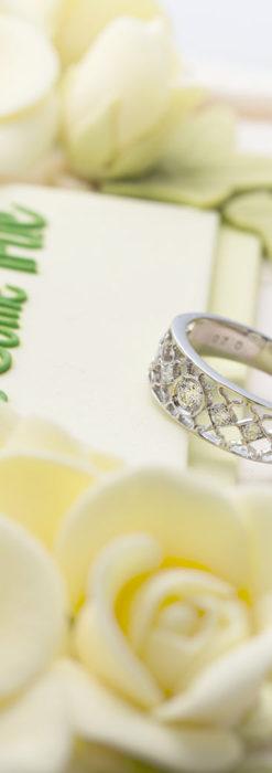 ダイヤモンドとプラチナリング -よみがえる伝承の職人技と造形美-A0287-3