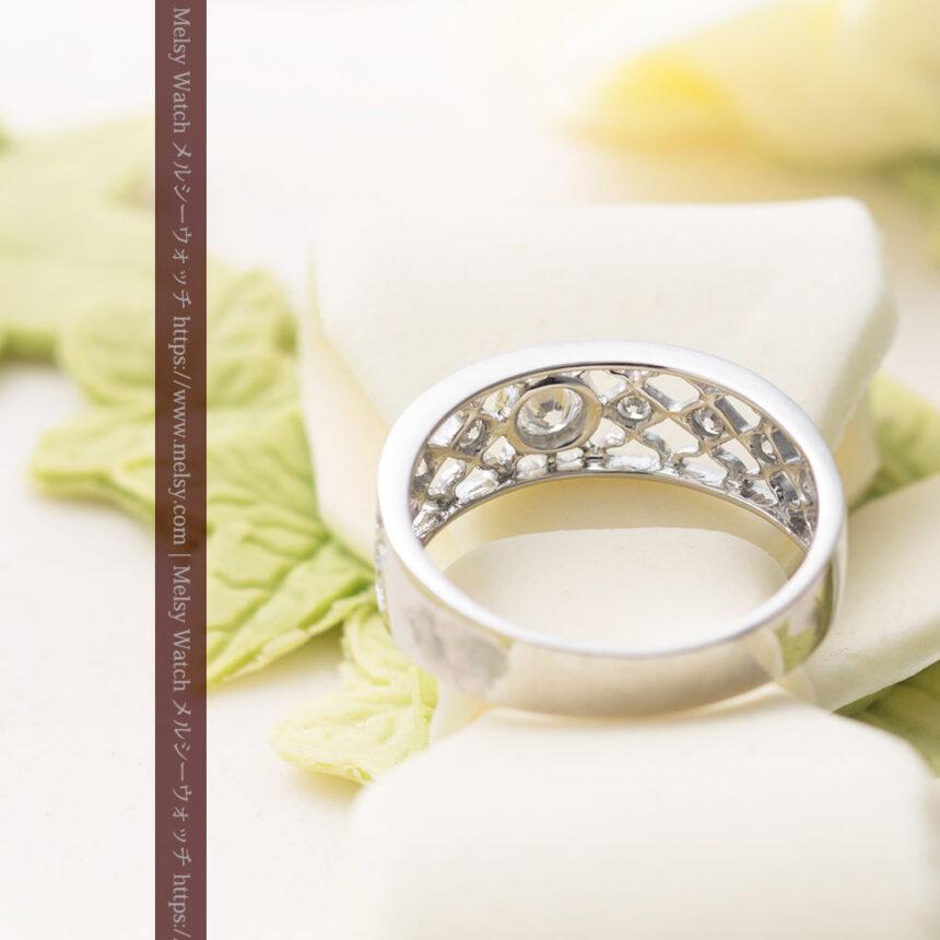 ダイヤモンドとプラチナリング -よみがえる伝承の職人技と造形美-A0287-4