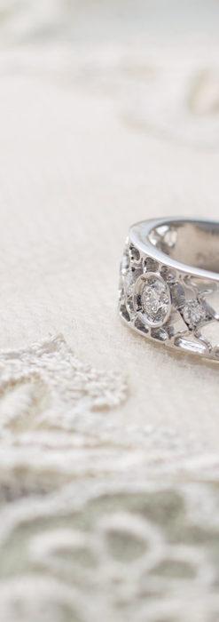ダイヤモンドとプラチナリング -よみがえる伝承の職人技と造形美-A0287-5