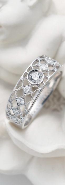 ダイヤモンドとプラチナリング -よみがえる伝承の職人技と造形美-A0287-6