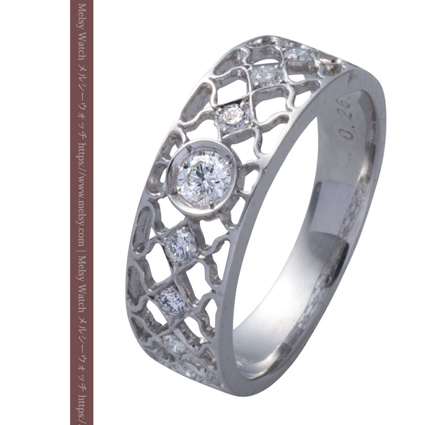 ダイヤモンドとプラチナリング -よみがえる伝承の職人技と造形美-A0287-8