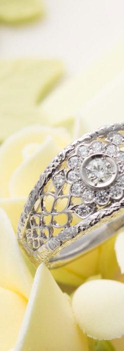 ダイヤモンドとプラチナリング -よみがえる伝承の職人技と造形美-A0288-1