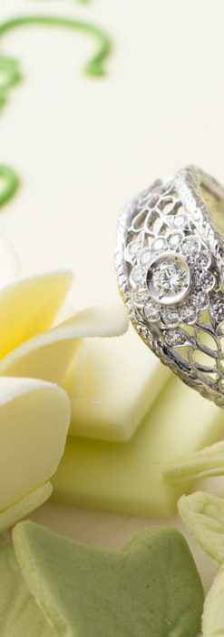 ダイヤモンドとプラチナリング -よみがえる伝承の職人技と造形美-A0288-2