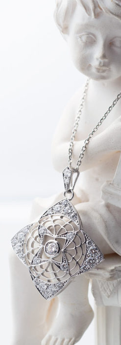 ダイヤモンドとプラチナのペンダント -よみがえる伝承の職人技と造形美-A0296-2
