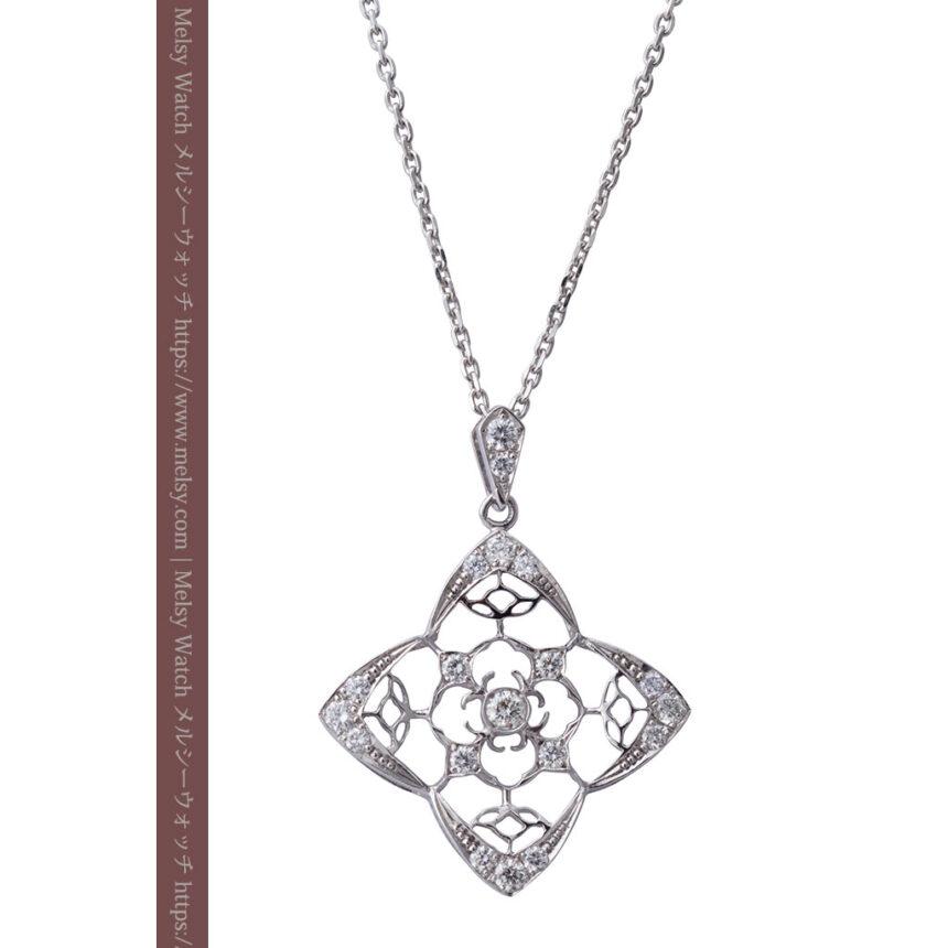 ダイヤモンドとプラチナのペンダント -よみがえる伝承の職人技と造形美-A0297-1