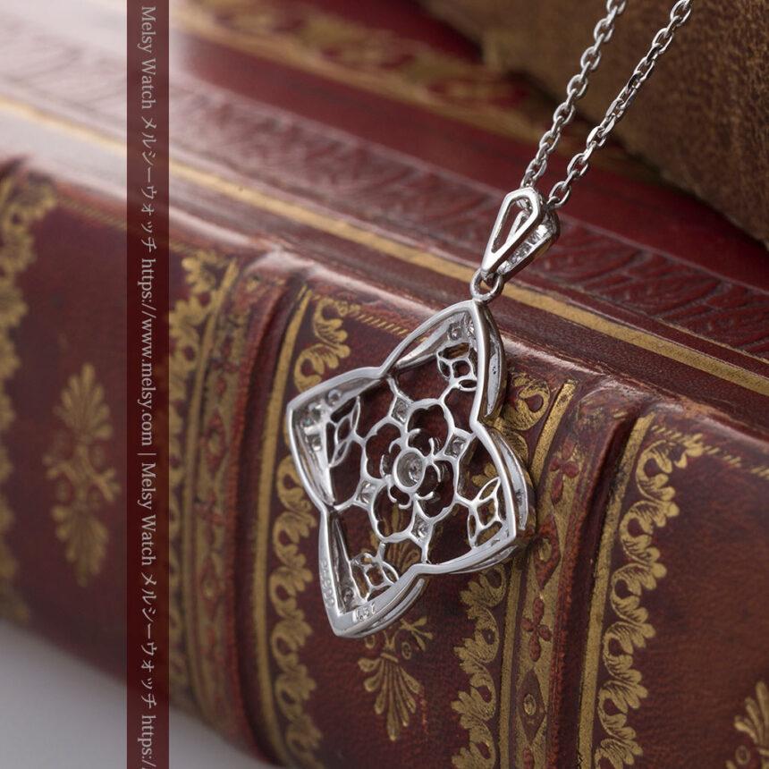 ダイヤモンドとプラチナのペンダント -よみがえる伝承の職人技と造形美-A0297-5