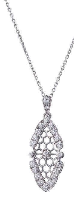 ダイヤモンドとプラチナのペンダント -よみがえる伝承の職人技と造形美-A0298-1