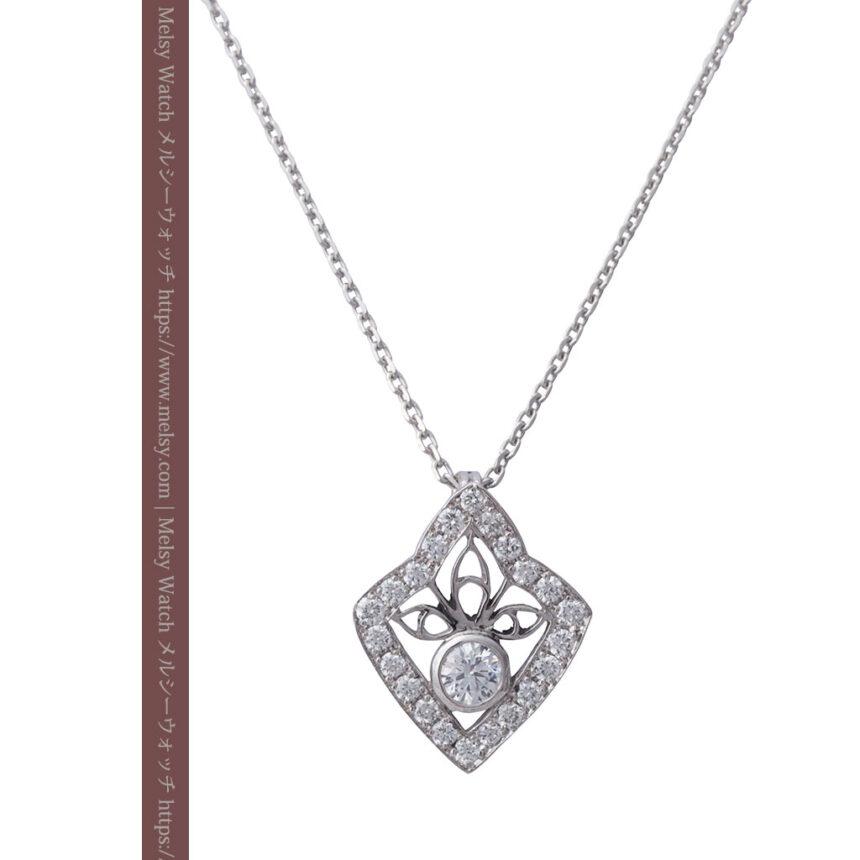 ダイヤモンドとプラチナのペンダント -よみがえる伝承の職人技と造形美-A0299-1