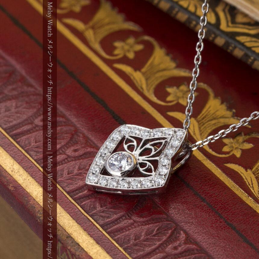ダイヤモンドとプラチナのペンダント -よみがえる伝承の職人技と造形美-A0299-5