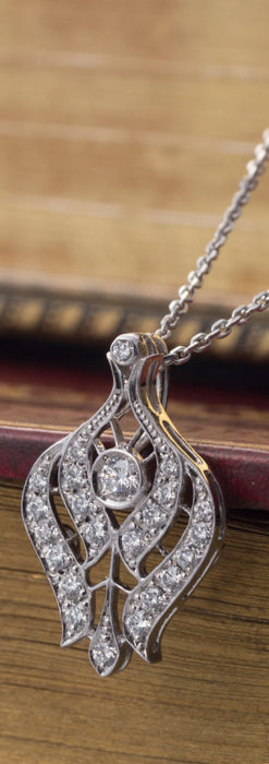 ダイヤモンドとプラチナのペンダント -よみがえる伝承の職人技と造形美-A0300-2