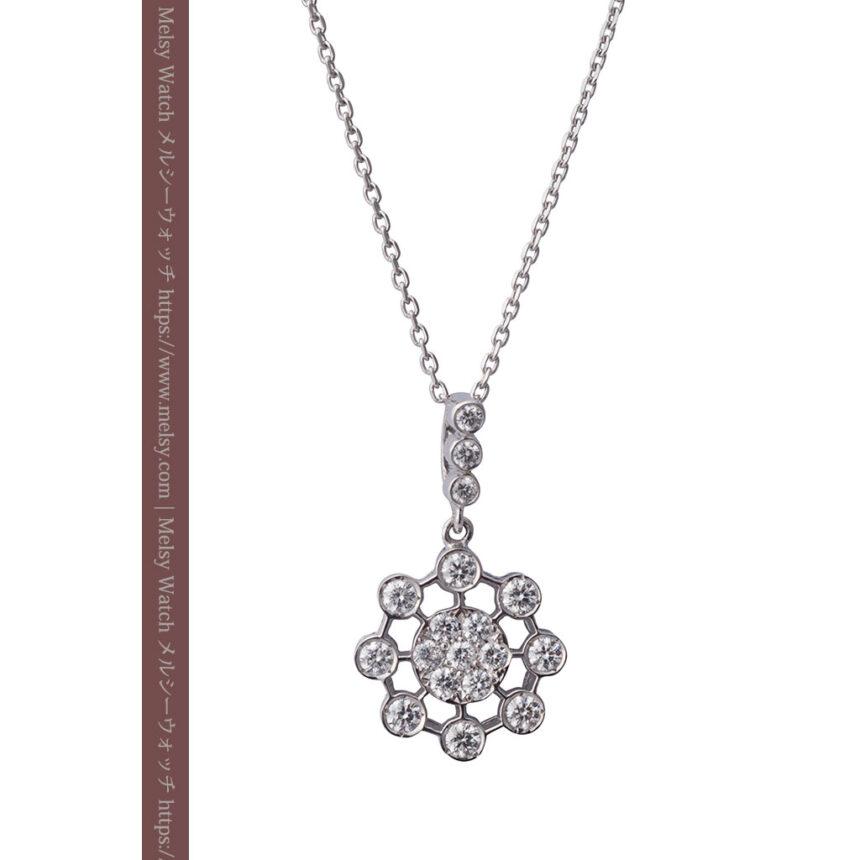 ダイヤモンドとプラチナのペンダント -よみがえる伝承の職人技と造形美-A0301-1