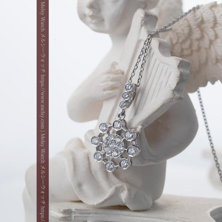 ダイヤモンドとプラチナのペンダント -よみがえる伝承の職人技と造形美-A0301-2