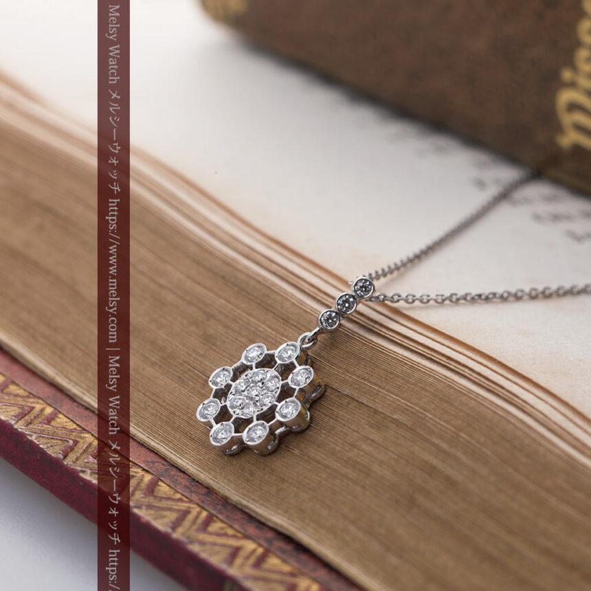 ダイヤモンドとプラチナのペンダント -よみがえる伝承の職人技と造形美-A0301-4
