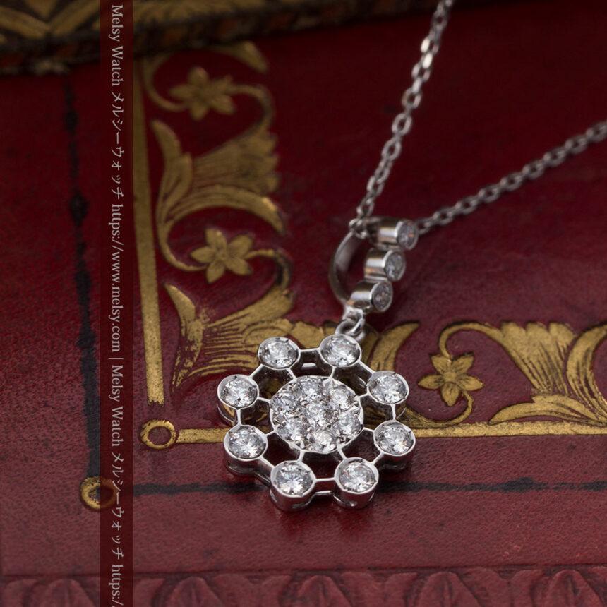 ダイヤモンドとプラチナのペンダント -よみがえる伝承の職人技と造形美-A0301-5
