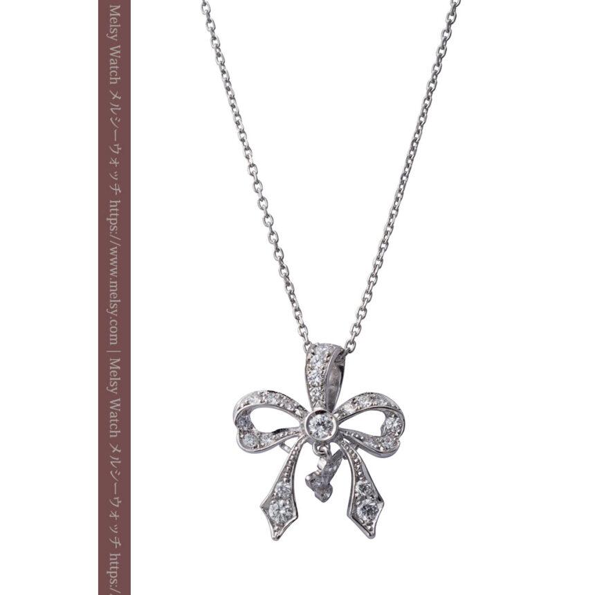 ダイヤモンドとプラチナのペンダント -よみがえる伝承の職人技と造形美-A0302-1