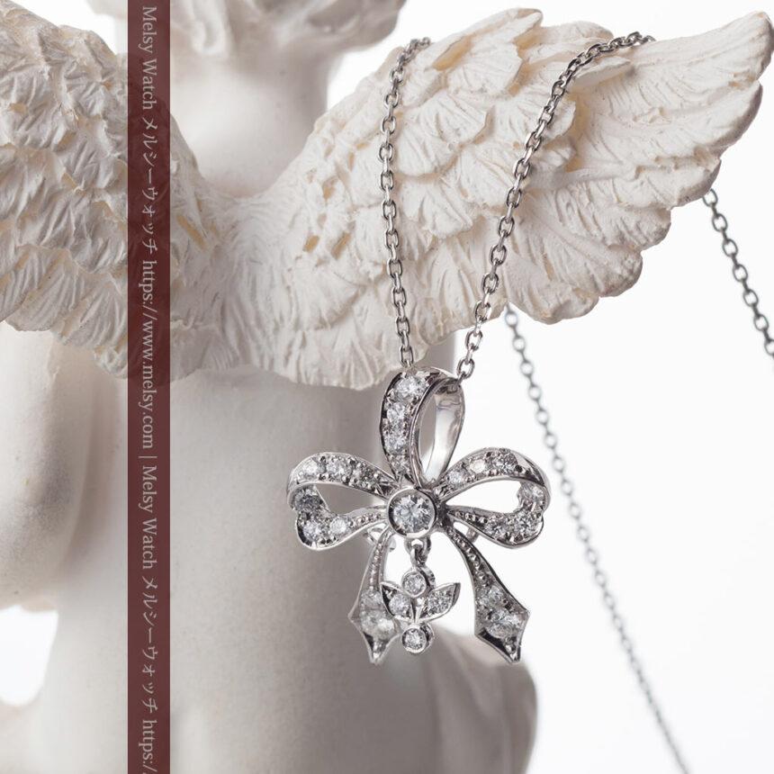 ダイヤモンドとプラチナのペンダント -よみがえる伝承の職人技と造形美-A0302-2