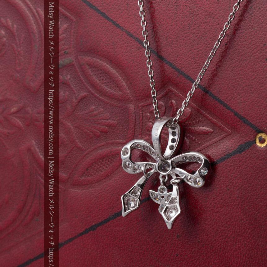 ダイヤモンドとプラチナのペンダント -よみがえる伝承の職人技と造形美-A0302-5