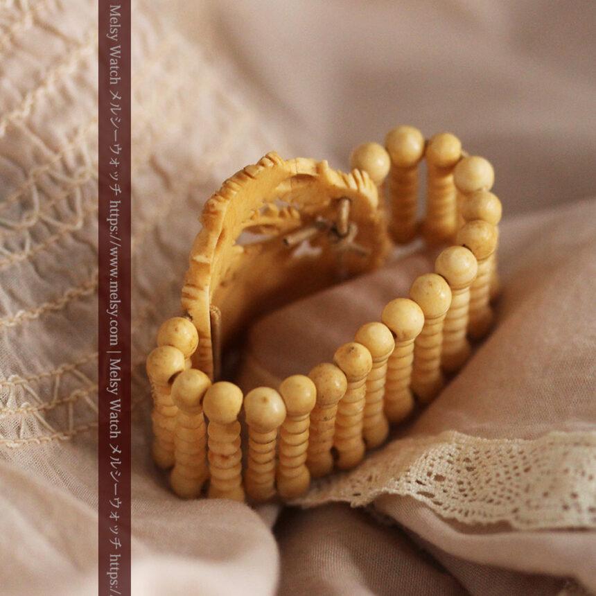 透かし彫りのアンティークブレスレット 【19世紀頃】-A0304-11