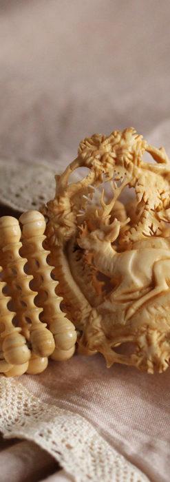 透かし彫りのアンティークブレスレット 【19世紀頃】-A0304-2