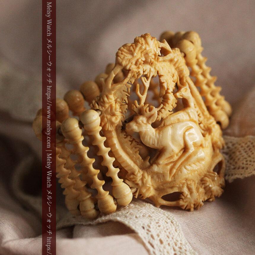 透かし彫りのアンティークブレスレット 【19世紀頃】-A0304-4