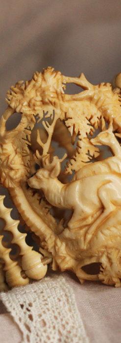 透かし彫りのアンティークブレスレット 【19世紀頃】-A0304-5