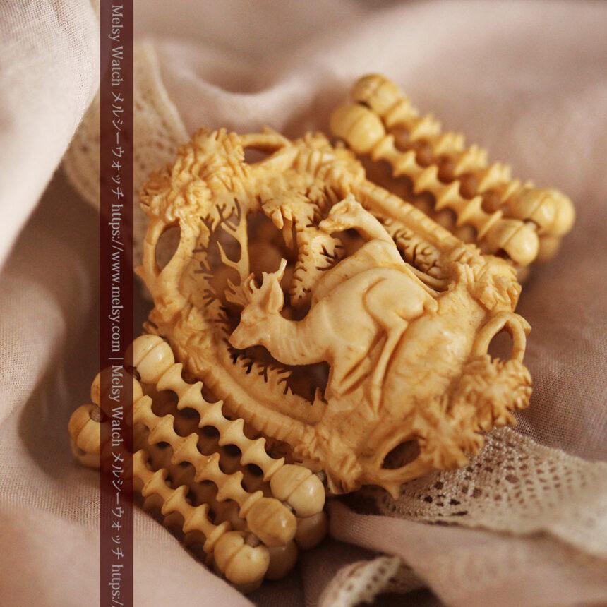 透かし彫りのアンティークブレスレット 【19世紀頃】-A0304-6
