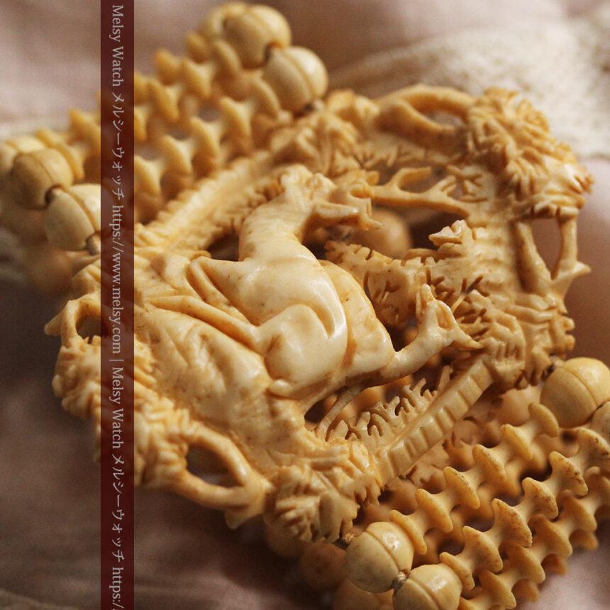 透かし彫りのアンティークブレスレット 【19世紀頃】-A0304-7