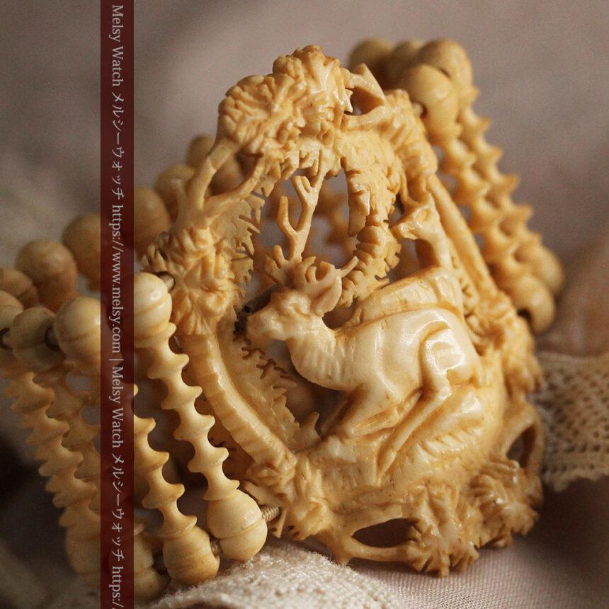 透かし彫りのアンティークブレスレット 【19世紀頃】-A0304-8