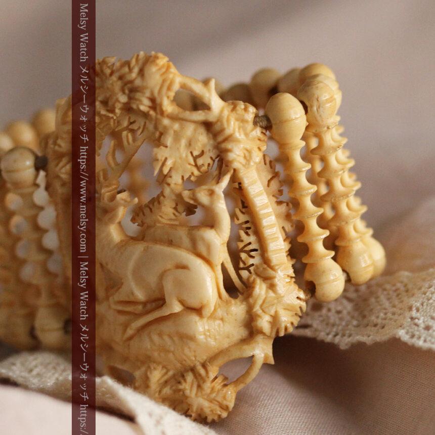 透かし彫りのアンティークブレスレット 【19世紀頃】-A0304-9