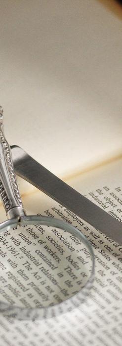 英国の銀製アンティーク虫眼鏡とレターオープナーセット 【1926年頃】-A0305-2