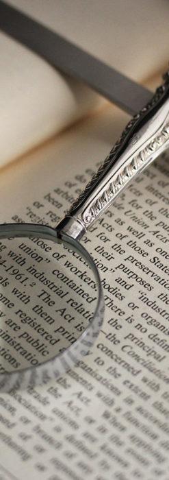 英国の銀製アンティーク虫眼鏡とレターオープナーセット 【1926年頃】-A0305-4