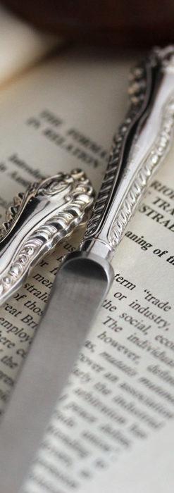 英国の銀製アンティーク虫眼鏡とレターオープナーセット 【1926年頃】-A0305-5