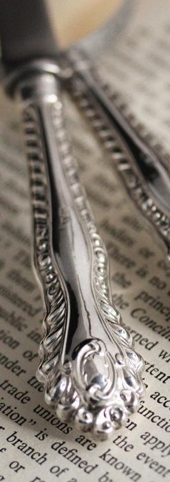英国の銀製アンティーク虫眼鏡とレターオープナーセット 【1926年頃】-A0305-6